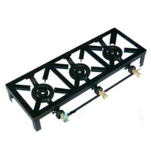 STOVE-CAST-IRON-TRIPILE-BURNER