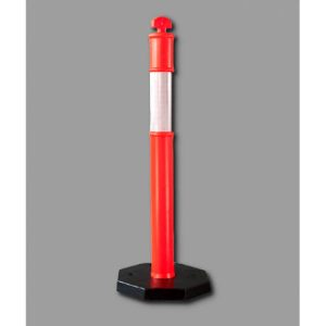 Road pole with 6kg rubber base
